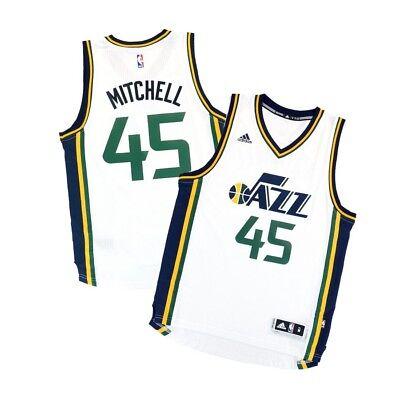 Donovan Mitchell Adidas Utah Jazz Climacool Home White Swingman Jersey Mens