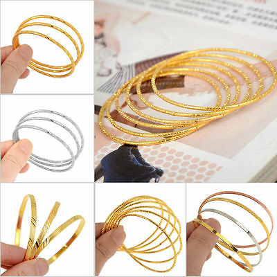 3/4/6pcs Gold/Silver Plated Children Kid Baby Bangle Bracelets Free Shipping
