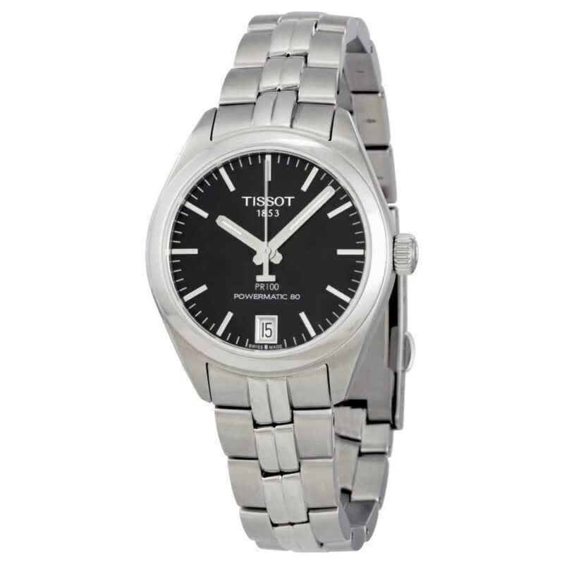 Tissot PR 100 Powermatic Black Dial Ladies Watch T1012071105100