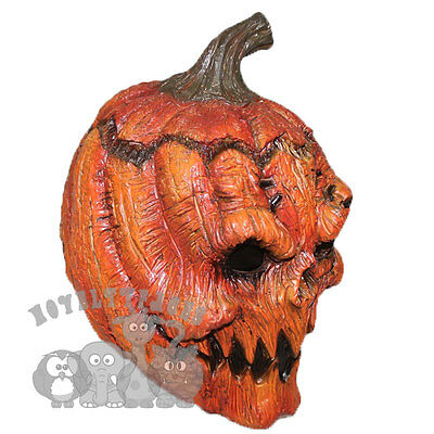 Latex Halloween Icon Scary Evil Pumpkin Monster Skull Mask Props Fancy Costumes - Scary Halloween Pumpkin Props