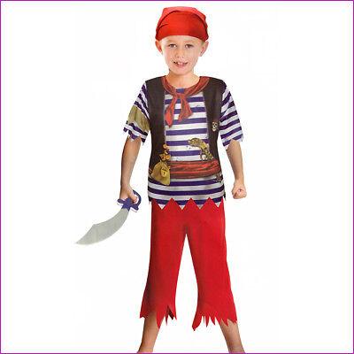 KINDER PIRATEN KOSTÜM # Karneval Fasching Jungen Seeräuber Gr.122/128/134  0025 (Kind Räuber Kostüm)