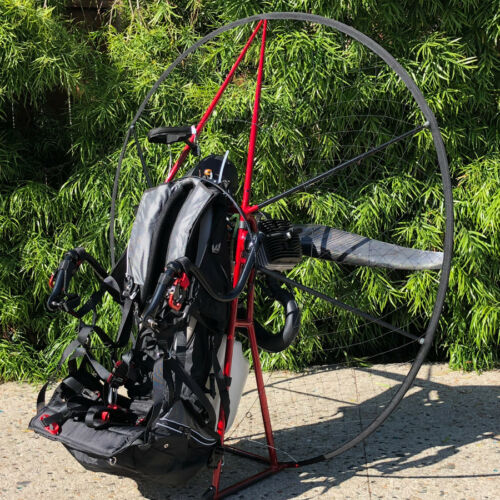 Miniplane ABM Paramotor, featuring the Vittorazi Moster Plus with Dual Start!