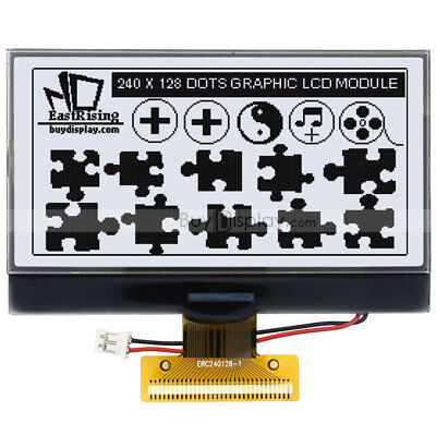 3.3white 240x128 Cog Graphic Lcd Module Displaywuc1698 Controllertutorial