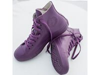 Brand New Converse All Rubber Boots High Shoes in Purple UK 7