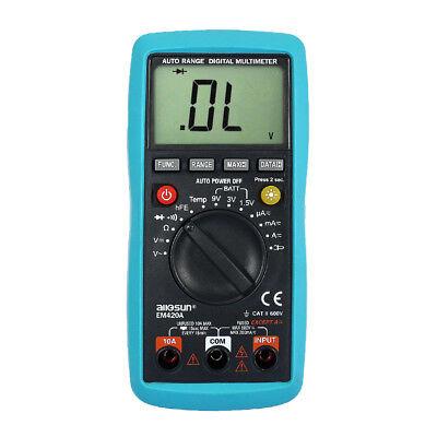 Lcd Auto Range Digital Multimeter Buzz Ac Dc Volt Amp Ohm Temp Electronic Tester