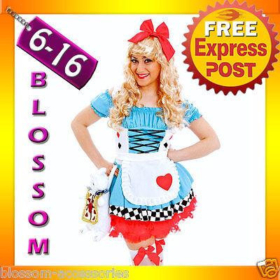 Alice In Wonderland Dress Up (G90 Alice in Wonderland Ladies Disney Fancy Dress Up Party Halloween Costume )