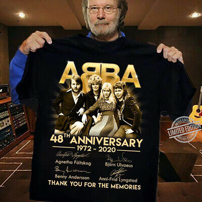 ABBA 48th Anniversary 1972 2020 Thank You For The Memories Unisex T-Shirt