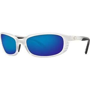 0172e1a62fa Costa Del Mar Brine Sunglasses Matte Crystal blue Mirror 400g Polarized 400  G