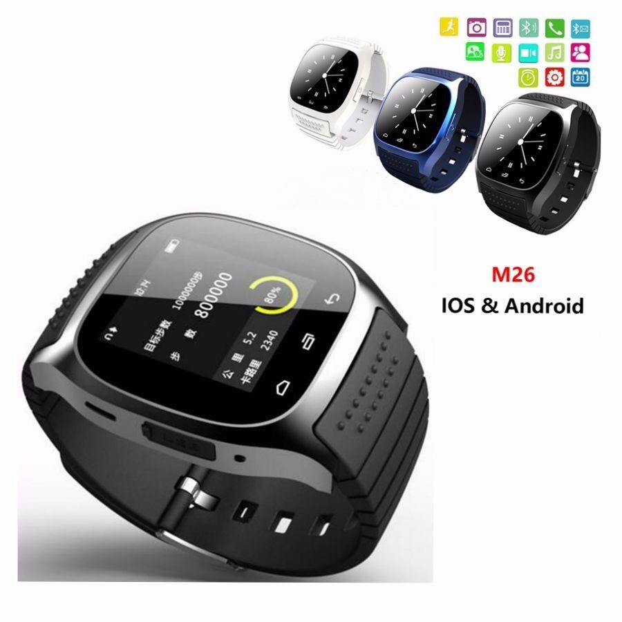 smart watch for iphone m26 bluetooth wrist smart phone mate for iphone 4342