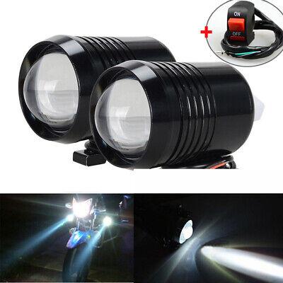 2X 12V CREE Motorcycle U2 30W LED Driving Headlight Fog Lamp Spot Light & Switch