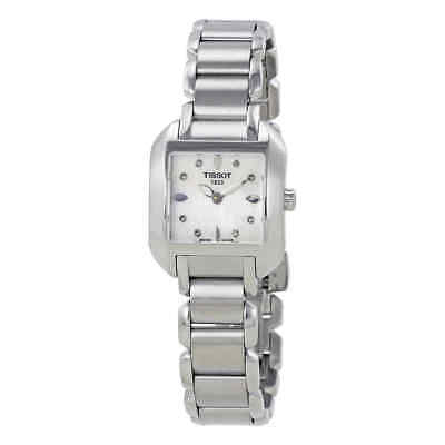 Tissot T-Trend T-Wave Mother of Pearl Diamond Ladies Watch T02.1.285.74