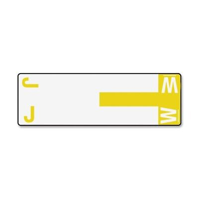 Smead 67161 Yellow Alphaz Ncc Color-coded Name Label - J & W - 3.12