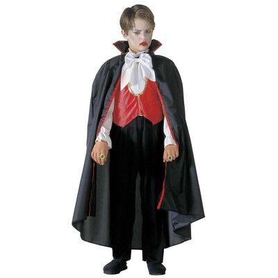 KINDER VAMPIR KOSTÜM & UMHANG Halloween Karneval Jungen Dracula Verkleidung 3884 (Männliche Vampir Kostüm)