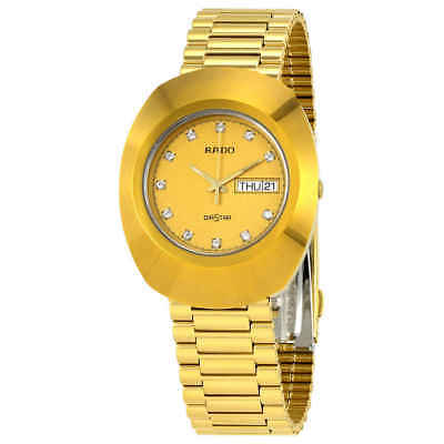 Rado Diastar All Gold Tone Stainless Steel Men's Watch R12393633