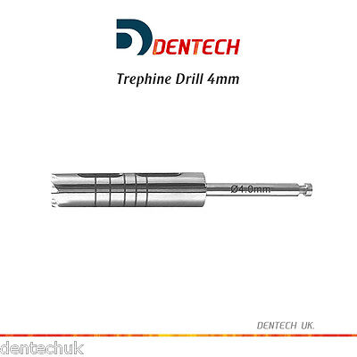 Trépano Taladro 4MM Irrigación Implante Dental Instrumento Quirúrgico Lab Tool