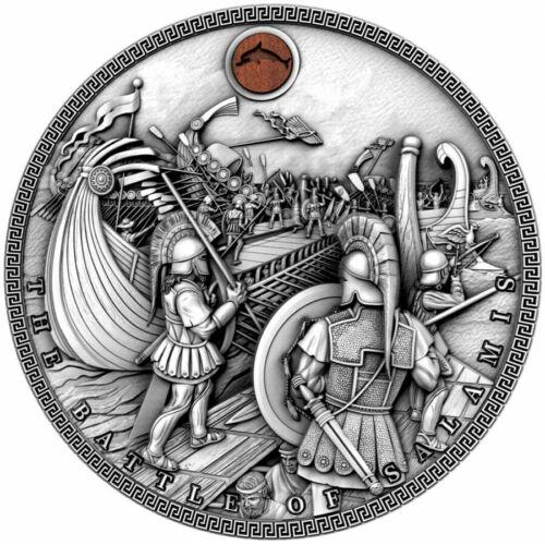 Niue $5 BATTLE of SALAMIS - SEA BATTLES Silver Coin 2019 Ultra High Relief 2 oz