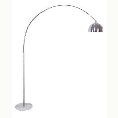 """Arched Floor Lamp Adjustable 81"""" Inch with Marble Base & Metal Shade"""