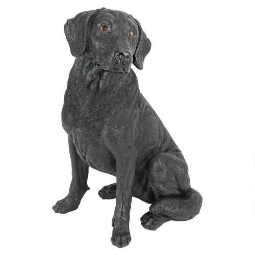 Black Labrador Retriever Design Toscano Exclusive Hand Painted Dog Statue