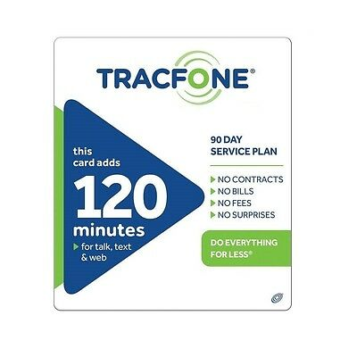 Tracfone  29 99 Refill    120 Minutes   90 Days