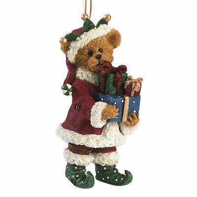 Boyds Bears Holly Elf Bear Christmas Ornament w/Presents ~ 4041898