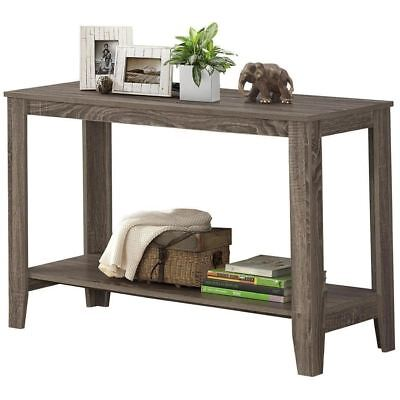 "Monarch Specialties I 7915S Accent Table 44""L Dark Taupe Hall Console"