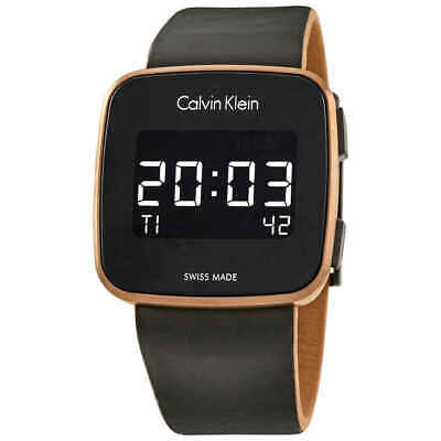 Calvin Klein Future Digital Black Leather Watch K5C11YC1