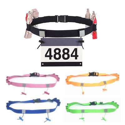 Sport Triathlon Marathon Belt Running Race Number Holder Waist Bib Belt Unisex
