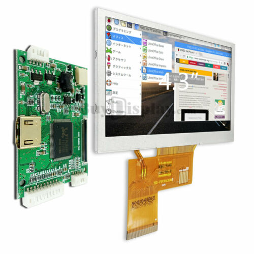 4.3 inch 800x480 Raspberry Pi TFT LCD Display Small HDMI Board OPTL Touch Panel