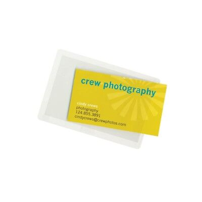 Adhesive Business Card Pocket Holds 2x3.5 Business Card- Box Of 120