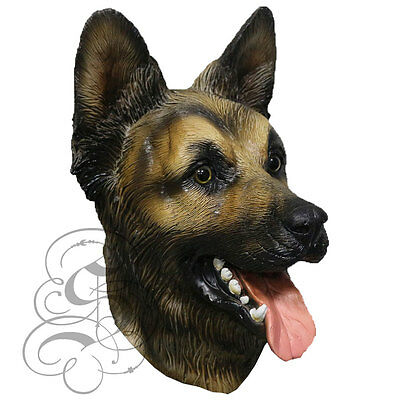 Latex Full Head Animal German Sheperd Dog High Quality Fancy Props Carnival Mask](Sheperd Costume)