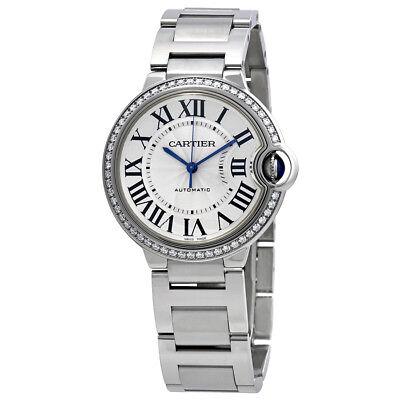 Cartier Ballon Bleu Automatic Ladies Diamond Watch W4BB0017