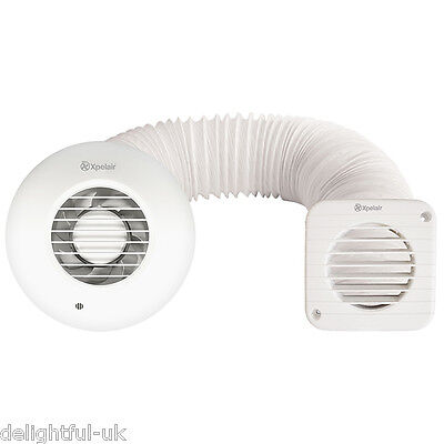 """Xpelair SSSFC Simply Silent 4""""/100mm Round Shower Inline Extractor Fan Full Kit"""
