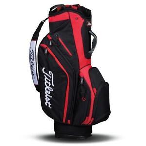 Titleist Lightweight Cart Bag - Black and Red / Brand New