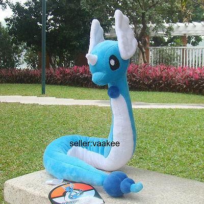 "Pokemon Center Go Plush Toy Dragonair 26"" Dragon Cuddly Stuffed Animal Soft Doll"