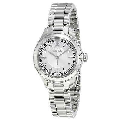 Ebel Onde Silver Diamond DIal Stainless Steel Ladies Watch 1216092
