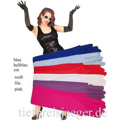 LANGE LILA HANDSCHUHE # Karneval Fasching Damen Tanz - Lange Lila Handschuhe