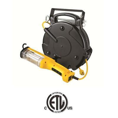 Heavy Duty Professional Industrial Fluorescent Retractable Cord Reel Work Light -
