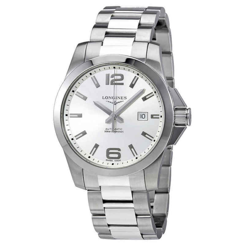 Longines-Conquest-Automatic-Silver-Dial-Men-43mm-Watch-L3.778.4.76.6