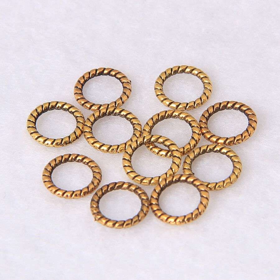 Free Ship 100pcs Bronze Plated heart Jump Rings Jewellery Craft Findings 19x20mm