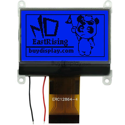 1.8blue 128x64 Graphic Lcd Module Display Serialst7565p Wtutorialconnector