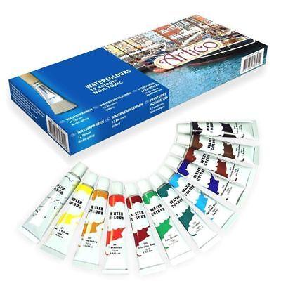12 x Colori ad Olio in Vari Colori Tubi da 12 ML Pittura Hobby Disegno Artico