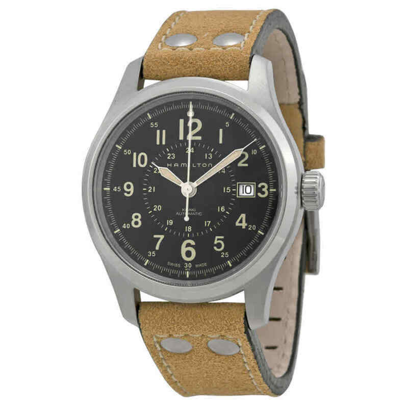 Hamilton-Khaki-Field-Automatic-Black-Dial-Men-Watch-H70595593