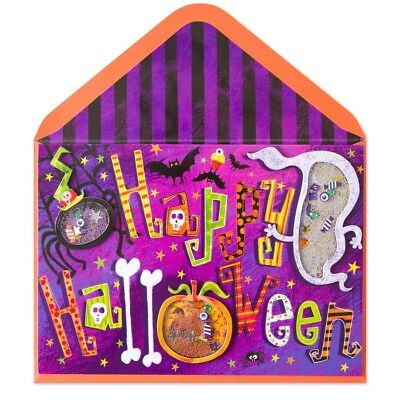 Papyrus Lettering Shakies Fun First Chill Last Thrill Happy Halloween Card - Happy First Halloween Cards