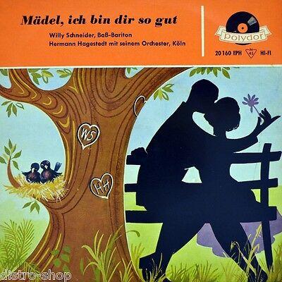 """7"""" WILLY SCHNEIDER Mädel, ich bin dir so gut HERMANN HAGESTEDT POLYDOR EP 1957"""