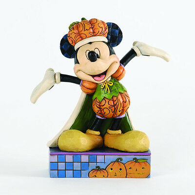 Jim Shore Disney Halloween Harvest Mickey Mouse ~ The Pumpkin King 4033279