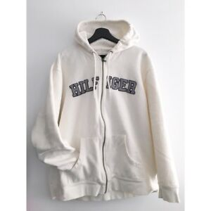 XXL Tommy Hilfiger spell out zip up hoodie