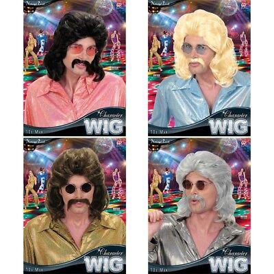 HNAUZER 70er 80er Jahre Night Fever Disco Kostüm Hippie 0806 (Disco Perücken)