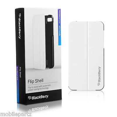 Genuine BlackBerry Z10 White Flip Shell Case Cover with Stand ACC-49284-202 Blackberry Z10 Flip Shell
