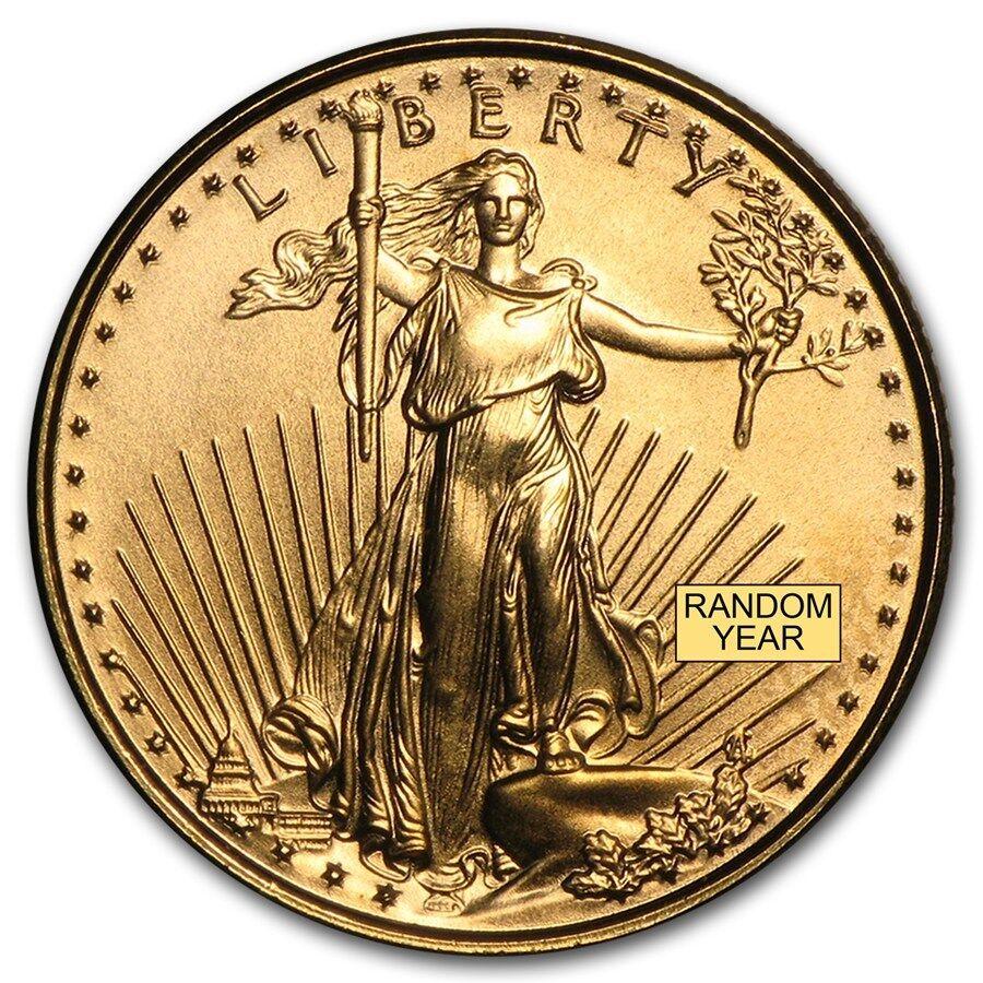 1/10 oz Gold American Eagle Coin - Random Year Coin - SKU #4