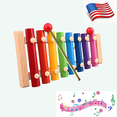 8Notes Kid Baby Musical Toys Xylophone Wisdom Development Wooden Instrument Gift
